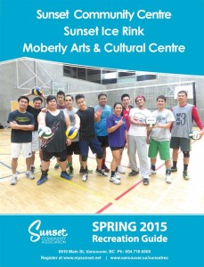 Sunset Community Centre Spring 2015 Recreation Guide